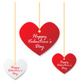 valentines day heart tag vector image vector image