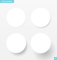 White round banners with drop shadow vector image vector image