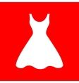 Woman dress sign vector image