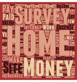 Work From Home for Dollars text background vector image vector image
