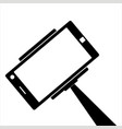 selfie photographic smartphone icon isolated vector image