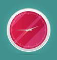 picture of round analog clock face watch vector image