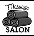 color vintage massage salon emblem vector image