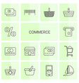 14 commerce icons vector image vector image