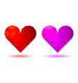 3d geometric heart icon triangular heart logo vector image vector image