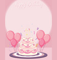 a birthday card template vector image