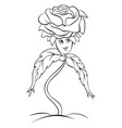 a children coloring bookpage a cute rose image vector image