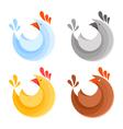 a collection farm chicken icons vector image vector image