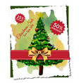 abstract christmas tree sale designs vector image