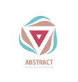 abstract triangle with leaves - concept logo vector image vector image