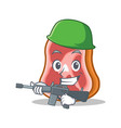 army meat character cartoon food