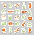 art and culture stickers vector image