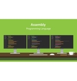 Assembly programming language code vector image vector image
