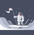 astronaut character in spacesuit vector image