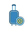 baggage luggage settings sign suitcase vector image