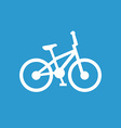bike icon white on the blue background vector image