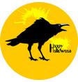 black raven vector image vector image