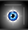 blue eyeball with laser target vector image