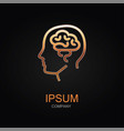 brain icon design logo element isolated vector image