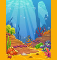 cartoon underwater background vector image