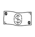 cash icon doodle hand drawn or outline icon style vector image