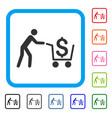cash out framed icon vector image vector image