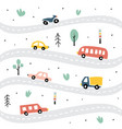 childish transport seamless pattern creative vector image