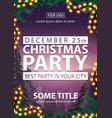 christmas party best party in your city poster vector image vector image