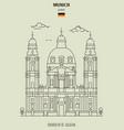 church stcajetan in munich vector image vector image