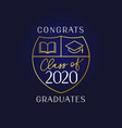 class 2020 book and academic cap vector image vector image