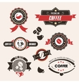 Coffee labels and badges Vintage set Retro style vector image vector image