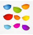 Colorful Stickers Set vector image vector image