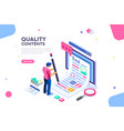 creative blog web page template vector image