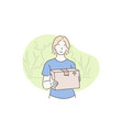 delivery courier buy concept vector image vector image