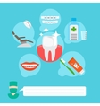 Dental health care infographic concept vector image vector image