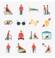 Disabled icons set flat vector image vector image