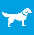 dog icon white vector image