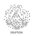 eruption natural disaster vector image vector image