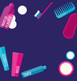 evening beauty routine vector image vector image