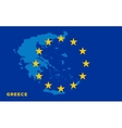 Flag of European Union with Greece on background vector image vector image