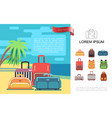 flat summer travel colorful concept vector image