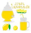 for slice citrus fruit lemon vector image
