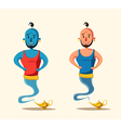 Genie coming out of a magic lamp Cartoon vector image vector image
