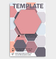 geometric shape diamond abstract template vector image vector image