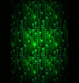 green matrix symbols digital binary code on dark vector image