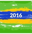 Grunge brush Brazilian flag with the inscription vector image
