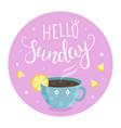 hello sunday vector image