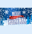 horizontal blue flyer merry cristmas and happy new vector image vector image