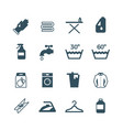 housework and laundry icon vector image vector image