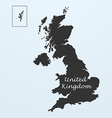 Map of United Kingdom Great Britain or England vector image vector image